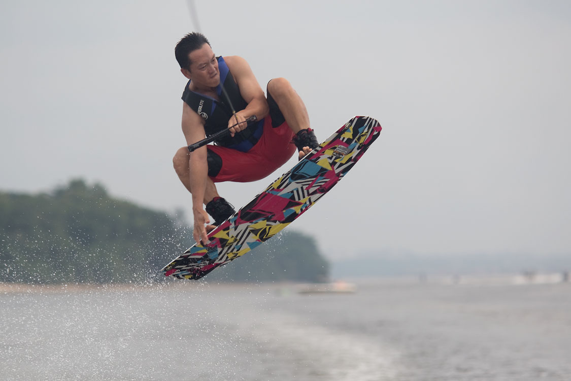 Wakeboarder in Singapore
